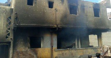 حريق يلتهم 10 منازل و70 رأس ماشية بقرية شو القنطرة فى أسيوط …