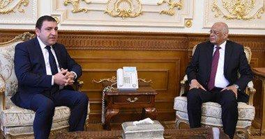 على عبد العال يستقبل سفير أذربيجان فى القاهرة بمجلس النواب …