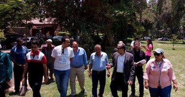وزير البيئة يشارك في تشجير حي المعادي