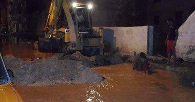 انفجار ماسورة المياه المغذية لمنطقة منشية البكرى بالمحلة بسبب زيادة الضغط …