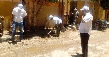 """ختام فعاليات مبادرة """"حلوة يا بلدى"""" بتنظيف ودهان شوارع حى شرق الأقصر …"""