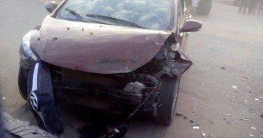 توقف حركة المرور بسبب حادث تصادم 3 سيارات أعلى الطريق الدائرى  …