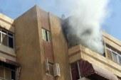 ربة منزل تقفز من الطابق الخامس بعد نشوب حريق في مسكنها