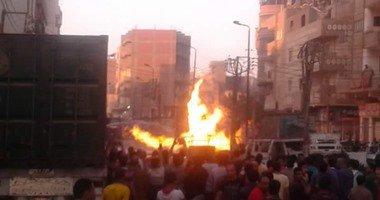 حريق هائل يلتهم 7 حظائر ونفوق 4 رؤوس ماشية بسوهاج