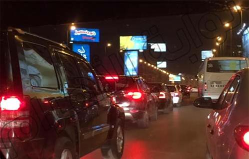 كثافات مرورية عالية بمحور26 يوليو بسبب تصادم سيارتين…