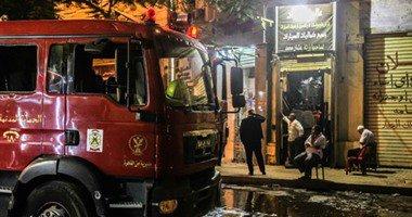 الحماية المدنية تسيطر على حريق مخزن تابع لحى العجوزة خلف مسرح البالون…