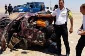 إصابة 3 أشخاص بينهم سعوديان فى حادث انقلاب سيارة برأس سدر…