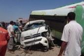 مصرع 3 جنود وإصابة 4 في تصادم سيارتين بطريق «سوهاج – قنا»