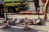 """سيارات الإسعاف تصل إلى موقع انقلاب مقطورة بـ""""دائري المريوطية"""""""