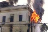 نقل متهم لقسم السيدة زينب لإعادة محاكمته فى قضية حرق المجمع العلمى..
