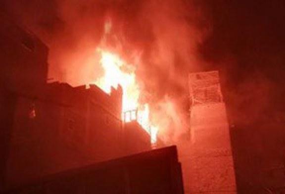 حريق فى مصنع أخشاب بأكتوبر و الإطفاء تحاول إخماده