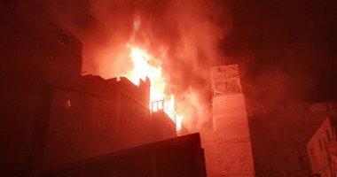 الحماية المدنية تسيطرعلى حريق في منزل ببني سويف