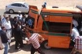 ننشر تفاصيل حادث تصادم سيارتى نقل بطريق إسكندرية الصحراوى ..
