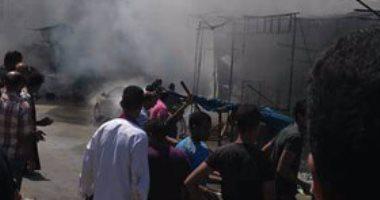 إخماد حريق بـ10 محلات لبيع الأقمشة والبلاستيكات فى أكتوبر دون إصابات…