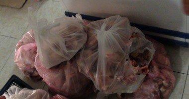 ضبط كميات من اللحوم غير الصالحة للاستهلاك الآدمى فى حملة برأس البر..