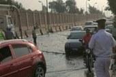 تكدس مرورى بطول 3 كيلو على طريق الإسماعيلية الصحراوى لكسر ماسورة مياه .