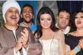 فيفي عبده تستقبل عزاء زوج ابنتها في مسجد الحامدية الشاذلية