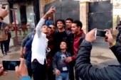 جماهير المحلة تحتفي بالنجم محمد النني