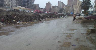 هطول أمطار غزيرة على كفر الشيخ