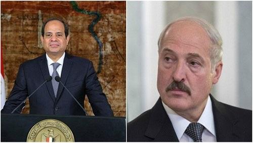 الرئيس السيسي ونظيره البيلاروسي يتفقدان معرضا لانتاج اللوريات والجررارت