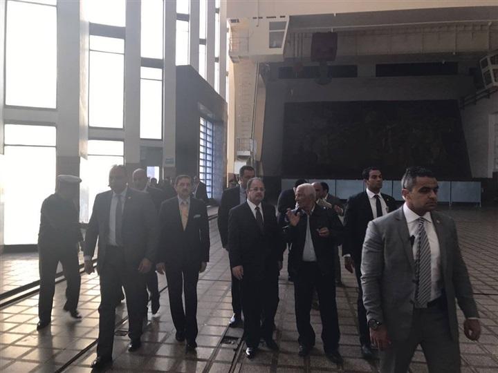 وزير الداخلية يتفقد إجراءات تأمين السد العالي