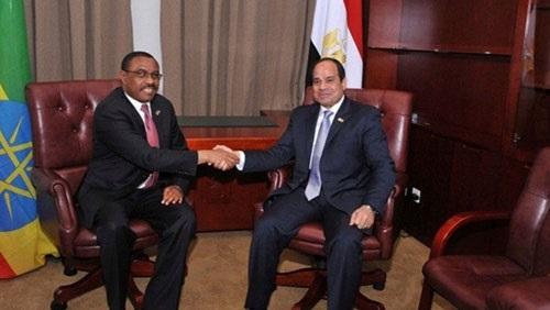 السيسي يُجري جلسة مباحثات مع رئيس الوزراء الإثيوبي