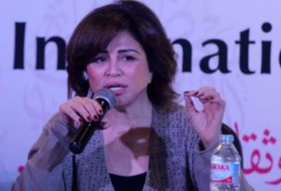 """إلهام شاهين: اخترنا سجادة خضراء لمهرجان أسوان """"عشان الحمرا تمثل الدم والحرب"""""""