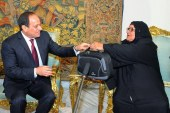 """الرئيس السيسي يستقبل الحاجة """"سبيلة"""" المتبرعة بكل ثروتها لصندوق تحيا مصر"""