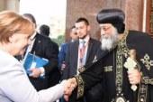 """البابا تواضروس لـ""""ميركل"""": أوضاع المسيحيين بمصر تحسنت بعد 30 يونيو"""