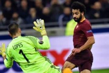 روما يودع الدوري الأوروبي أمام ليون بمشاركة صلاح
