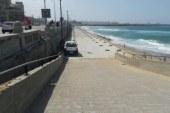 كارثة.. اختفاء شاطئ الشاطبى بالإسكندرية وتحويله لجراج