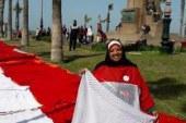 """علم مصر فى """"جينيس"""".. حلم """"نجلاء"""" يبدأ بـ450 مترا وفى انتظار اكتمال 20 ألف متر"""