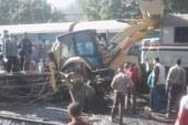 اصطدام قطار بلودر أثناء مروره بمحطة سيدى جابر فى الإسكندرية