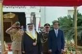 مباحثات ثنائية بين السيسى وملك البحرين يعقبها جلسة موسعة