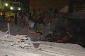 انهيار منزل مكون من 4 طوابق بشبرا الخيمة