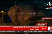 تمثال رمسيس الثاني يصل إلى المتحف المصري