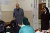 وكيل تعليم دمياط يزور مدرسة الراهبات الفرنسيسكان لتقديم واجب العزاء