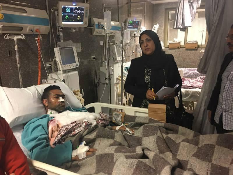 بوابة حديث مصر الاخبارية تزور المصابين بالاسكندرية