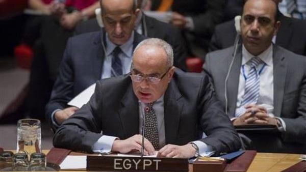 مندوب مصر بمجلس الأمن: بعض القوى الإقليمية تلعب دورا هداما فى ليبيا