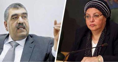"""عائشة عبدالهادى لوزير قطاع الأعمال: """"هدعيلك ربنا يوفقك وأنا دعوتى مستجابة"""""""