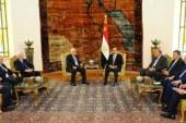 """السيسي ونظيره الفلسطينى: """"حل الدولتين"""" السبيل الوحيد لتحقيق الاستقرار بالمنطقة"""