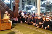 وزيرا الأوقاف والنقل والمفتى يصلون مسجد الحسين للاحتفال بالإسراء والمعراج