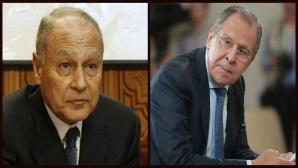 """غدًا.. """"أبو الغيط"""" و""""لافروف"""" يبحثان تطورات الأزمة السورية"""