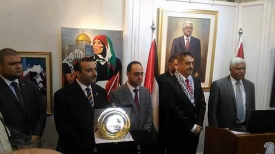 معرض فنانو مصر يرسمون فلسطين بكلية فنون جميلة جامعة الاسكندرية