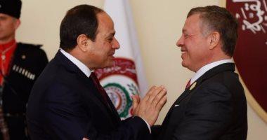 ملك الأردن يؤكد للرئيس السيسي تضامن بلاده مع مصر فى مواجهة الإرهاب