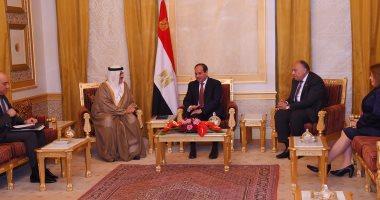 """السيسى يؤكد لرئيس """"النواب البحرينى"""" التزام مصر بالحفاظ على أمن الخليج"""