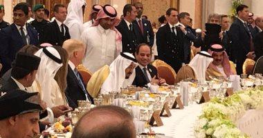 """""""مأدبة غداء"""" تجمع السيسى وسلمان وترامب تمحو سنوات """"أوباما"""" العجاف"""