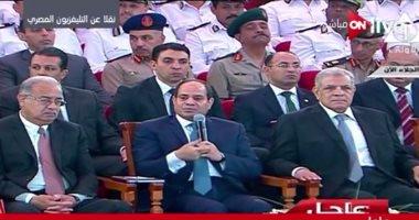 مسيحية باكية: إحنا بنحب مصر.. والسيسى: وإحنا بنحبكم ودى بلدكم زى كل الناس