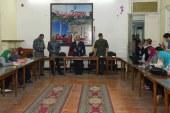 فاعليات المؤتمر الصحفى لمحافظ الاسكندرية حول العمارة المائله