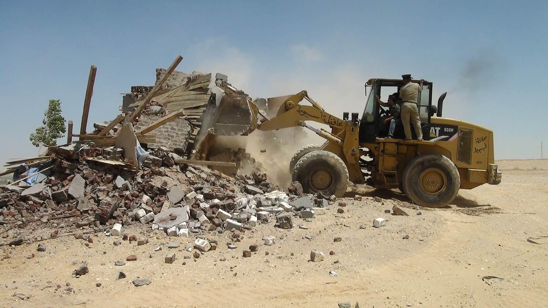 إزالة 23حالة تعدي على أراض زراعية واملاك دولة وتحرير 11محضر تمويني بمركز الغنايم بأسيوط